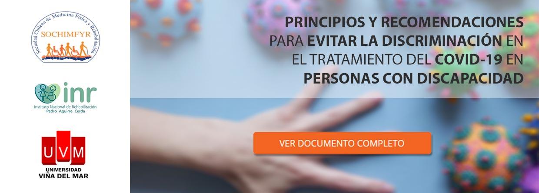 Princios y recomendaciones COVID19 para personas con discapacidades